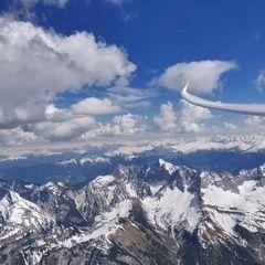 Flugwegposition um 14:36:47: Aufgenommen in der Nähe von Gemeinde Vomp, Österreich in 3096 Meter