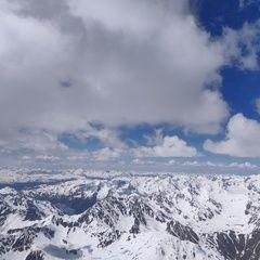 Flugwegposition um 12:26:55: Aufgenommen in der Nähe von 39028 Schlanders, Südtirol, Italien in 3707 Meter