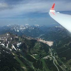 Flugwegposition um 10:00:09: Aufgenommen in der Nähe von Gemeinde Vordernberg, 8794, Österreich in 1982 Meter