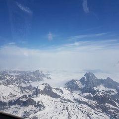 Flugwegposition um 07:39:54: Aufgenommen in der Nähe von Gemeinde Saalfelden am Steinernen Meer, 5760 Saalfelden am Steinernen Meer, Österreich in 3375 Meter