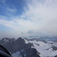 Flugwegposition um 05:58:37: Aufgenommen in der Nähe von Gemeinde Ramsau am Dachstein, 8972, Österreich in 3150 Meter