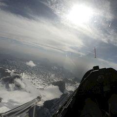 Flugwegposition um 07:18:22: Aufgenommen in der Nähe von Gemeinde Ramsau am Dachstein, 8972, Österreich in 3706 Meter