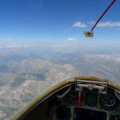 Flugwegposition um 12:12:45: Aufgenommen in der Nähe von Gemeinde Sölden, Österreich in 3498 Meter