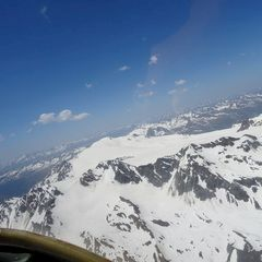 Flugwegposition um 12:17:54: Aufgenommen in der Nähe von Gemeinde Sölden, Österreich in 3532 Meter