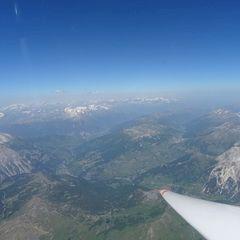 Flugwegposition um 12:40:14: Aufgenommen in der Nähe von Bezirk Inn, Schweiz in 3392 Meter