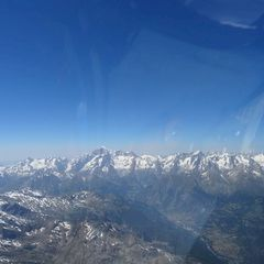 Flugwegposition um 13:34:07: Aufgenommen in der Nähe von 11011 Arvier, Aostatal, Italien in 4376 Meter
