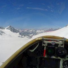 Flugwegposition um 13:53:59: Aufgenommen in der Nähe von Bezirk Entremont, Schweiz in 3359 Meter