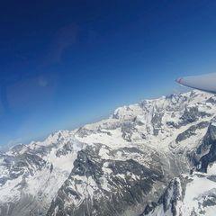 Flugwegposition um 14:20:09: Aufgenommen in der Nähe von Bezirk Siders, Schweiz in 4188 Meter