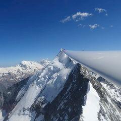 Flugwegposition um 14:24:07: Aufgenommen in der Nähe von Leuk, Schweiz in 4044 Meter