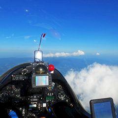 Flugwegposition um 16:12:26: Aufgenommen in der Nähe von Gemeinde Wolfsberg, Wolfsberg, Österreich in 2678 Meter