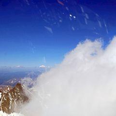 Flugwegposition um 14:09:29: Aufgenommen in der Nähe von Gemeinde Kals am Großglockner, 9981, Österreich in 3666 Meter