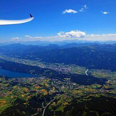 Flugwegposition um 12:41:17: Aufgenommen in der Nähe von Gemeinde Trebesing, Österreich in 3234 Meter