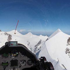 Flugwegposition um 14:14:41: Aufgenommen in der Nähe von 11010 Rhêmes-Saint-Georges, Aostatal, Italien in 4333 Meter