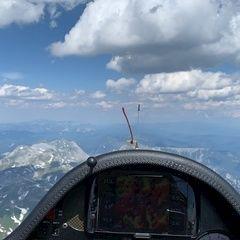Flugwegposition um 14:06:06: Aufgenommen in der Nähe von Tragöß, 8612, Österreich in 3050 Meter