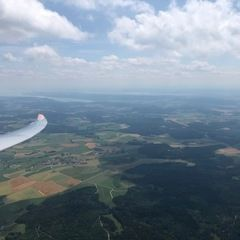 Verortung via Georeferenzierung der Kamera: Aufgenommen in der Nähe von Tuttlingen, Deutschland in 1800 Meter