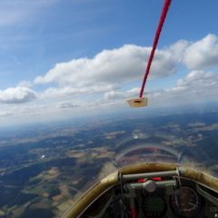 Flugwegposition um 13:49:44: Aufgenommen in der Nähe von Neustadt a.d.Waldnaab, Deutschland in 2001 Meter
