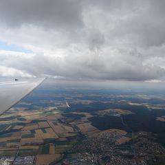 Flugwegposition um 09:29:18: Aufgenommen in der Nähe von Bamberg, Deutschland in 1283 Meter