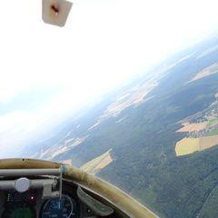 Flugwegposition um 09:32:42: Aufgenommen in der Nähe von Rhön-Grabfeld, Deutschland in 1356 Meter