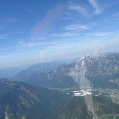 Flugwegposition um 09:02:37: Aufgenommen in der Nähe von Gemeinde Ebensee, 4802 Ebensee, Österreich in 1941 Meter