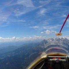 Flugwegposition um 09:54:00: Aufgenommen in der Nähe von Gemeinde Pfarrwerfen, Pfarrwerfen, Österreich in 2372 Meter