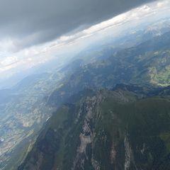 Flugwegposition um 13:54:50: Aufgenommen in der Nähe von Gemeinde St. Veit im Pongau, Österreich in 3170 Meter