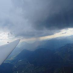 Flugwegposition um 15:10:02: Aufgenommen in der Nähe von Hall, 8911 Hall, Österreich in 2595 Meter