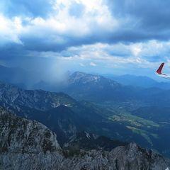 Flugwegposition um 14:46:44: Aufgenommen in der Nähe von Gemeinde Rosenau am Hengstpaß, Österreich in 2158 Meter