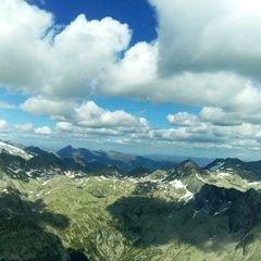 Flugwegposition um 13:58:13: Aufgenommen in der Nähe von Gemeinde Obervellach, 9821, Österreich in 2845 Meter