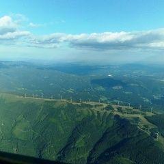 Flugwegposition um 16:42:42: Aufgenommen in der Nähe von Gemeinde Langenwang, Österreich in 2284 Meter