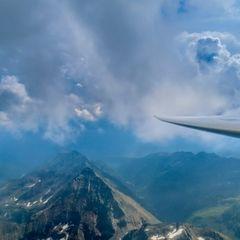 Flugwegposition um 13:11:20: Aufgenommen in der Nähe von Schladming, Österreich in 2824 Meter