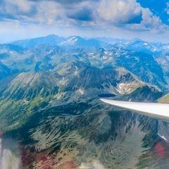 Flugwegposition um 11:25:46: Aufgenommen in der Nähe von St. Nikolai im Sölktal, 8961, Österreich in 2849 Meter