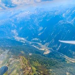 Flugwegposition um 12:12:21: Aufgenommen in der Nähe von Gemeinde Untertauern, Österreich in 2796 Meter
