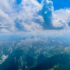 Flugwegposition um 12:13:44: Aufgenommen in der Nähe von Gemeinde Untertauern, Österreich in 2933 Meter