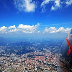 Flugwegposition um 11:49:18: Aufgenommen in der Nähe von Gemeinde Stattegg, Österreich in 1607 Meter