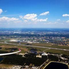 Flugwegposition um 11:34:26: Aufgenommen in der Nähe von Pirka, Österreich in 1010 Meter