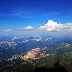 Flugwegposition um 15:07:40: Aufgenommen in der Nähe von Gemeinde Vordernberg, 8794, Österreich in 2921 Meter