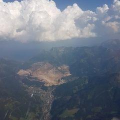 Flugwegposition um 15:35:57: Aufgenommen in der Nähe von Eisenerz, Österreich in 2693 Meter