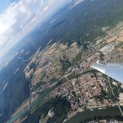 Flugwegposition um 15:10:38: Aufgenommen in der Nähe von Kelheim, Deutschland in 1508 Meter