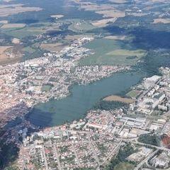 Flugwegposition um 11:27:01: Aufgenommen in der Nähe von Okres Jindřichův Hradec, Tschechien in 1454 Meter