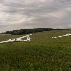 Flugwegposition um 14:47:07: Aufgenommen in der Nähe von Okres Tábor, Tschechien in 403 Meter