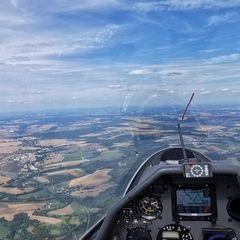 Flugwegposition um 12:54:52: Aufgenommen in der Nähe von Okres Jindřichův Hradec, Tschechien in 1612 Meter