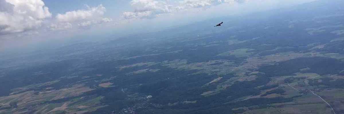 Flugwegposition um 13:24:35: Aufgenommen in der Nähe von Gemeinde Horn, Horn, Österreich in 1930 Meter