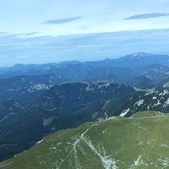 Flugwegposition um 11:22:09: Aufgenommen in der Nähe von Veitsch, St. Barbara im Mürztal, Österreich in 2089 Meter