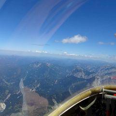 Flugwegposition um 11:14:15: Aufgenommen in der Nähe von Eisenerz, Österreich in 2953 Meter