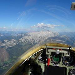 Flugwegposition um 15:26:42: Aufgenommen in der Nähe von Gemeinde Annaberg-Lungötz, Österreich in 2766 Meter