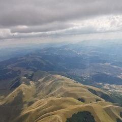 Flugwegposition um 13:35:21: Aufgenommen in der Nähe von 06046 Norcia, Perugia, Italien in 2914 Meter