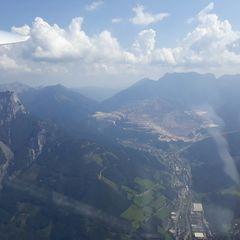 Flugwegposition um 12:17:13: Aufgenommen in der Nähe von Eisenerz, Österreich in 1893 Meter
