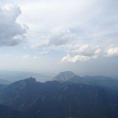 Flugwegposition um 14:45:15: Aufgenommen in der Nähe von Gemeinde Ebensee, 4802 Ebensee, Österreich in 2109 Meter