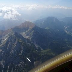 Flugwegposition um 09:51:16: Aufgenommen in der Nähe von Gemeinde Spital am Pyhrn, 4582, Österreich in 2845 Meter
