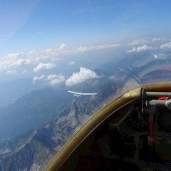 Flugwegposition um 09:58:25: Aufgenommen in der Nähe von Gemeinde Rosenau am Hengstpaß, Österreich in 3445 Meter